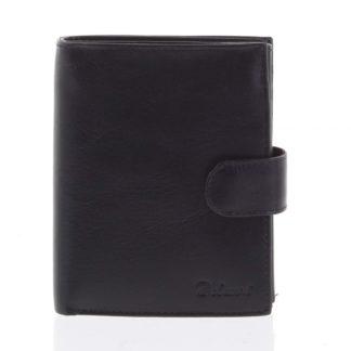 Pánská kožená černá peněženka se zápinkou - Delami Lunivers černá
