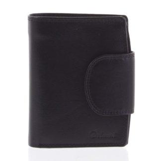 Kožená elegantní černá peněženka pro muže - Delami 1342CHA černá