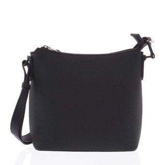 Dámská jemně strukturovaná černá kabelka - Hexagona Zinaida černá