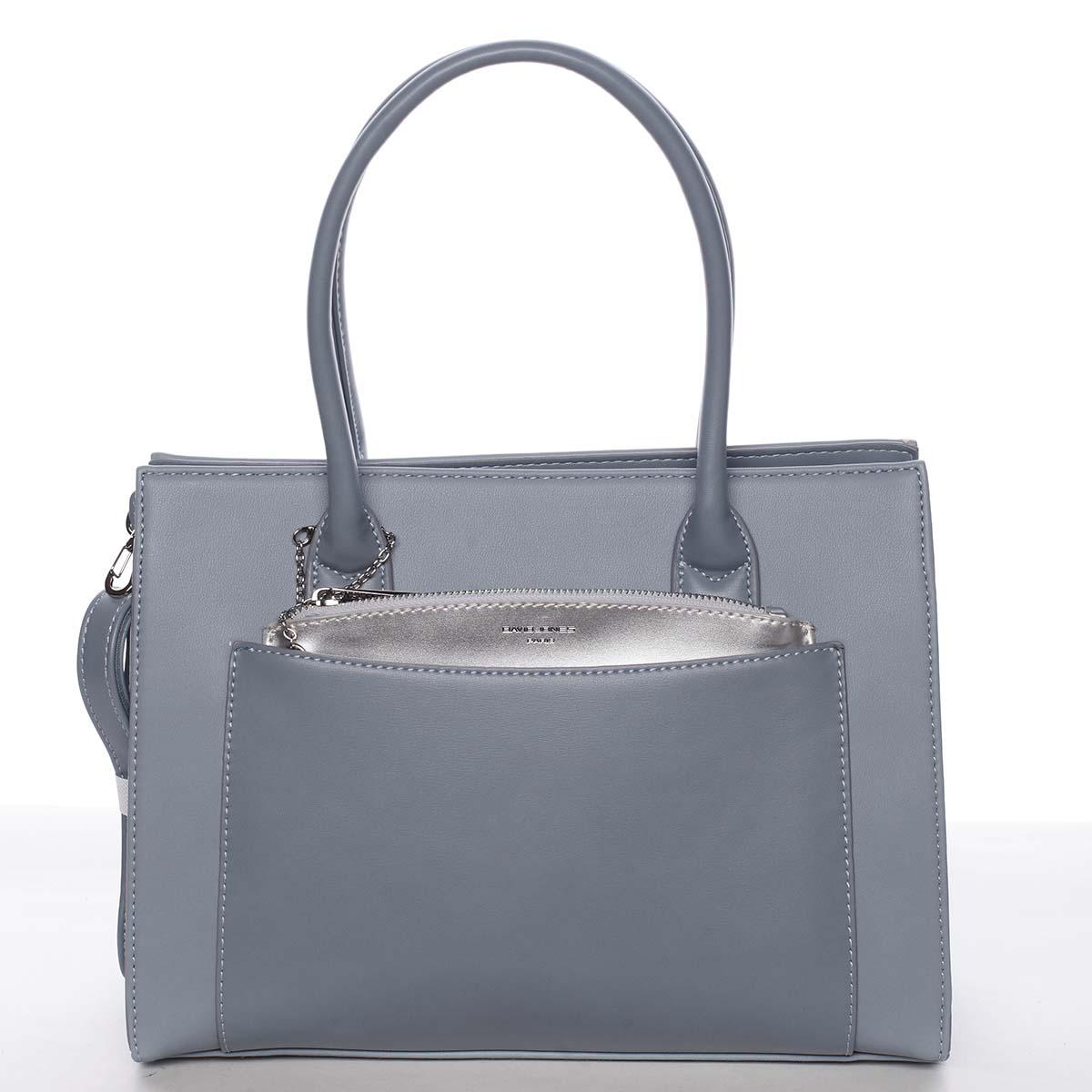 Exkluzivní dámská pastelově modrá kabelka - David Jones Hillary modrá