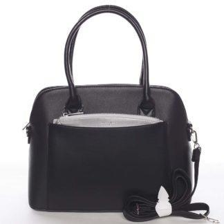 Exkluzivní dámská černá zaoblená kabelka - David Jones Hiliery černá