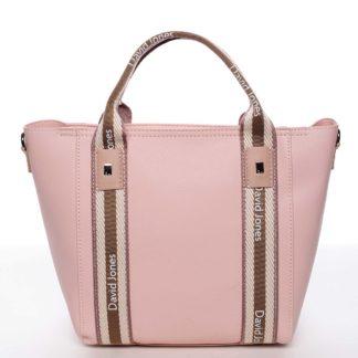 Moderní dámská růžová kabelka do ruky - David Jones Agna růžová