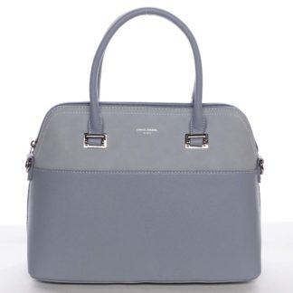 Větší dámská elegantní a módní světle modrá kabelka - David Jones Angie modrá