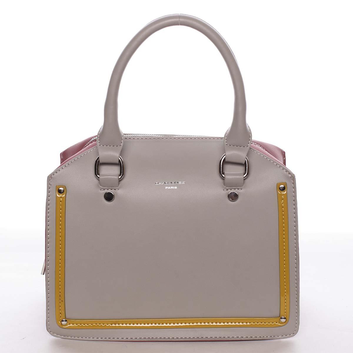Malá originální dámská kabelka do ruky šedá - David Jones Aglaia šedá