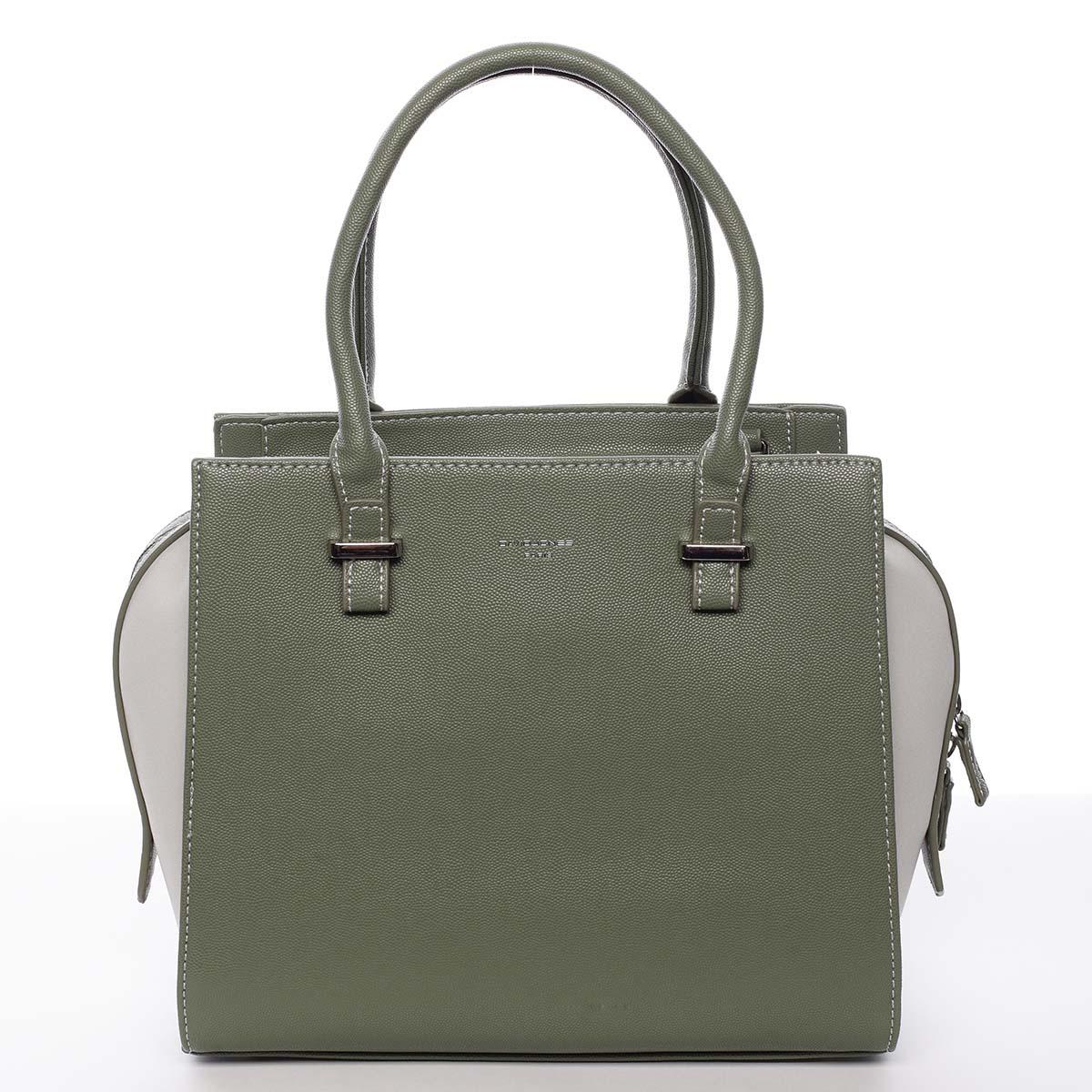 Luxusní módní olivově zelená kabelka přes rameno - David Jones Ariana zelená