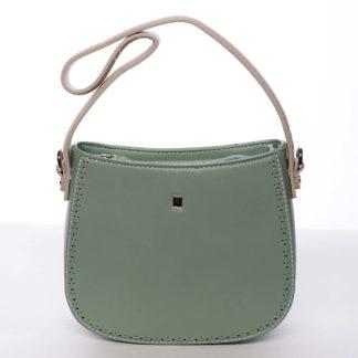 Elegantní listová crossbody kabelka zelená - David Jones Brigitte zelená