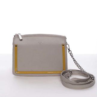 Malá originální crossbody kabelka šedá - David Jones Yuriko šedá