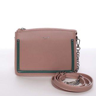 Malá originální crossbody kabelka růžová - David Jones Yuriko růžová