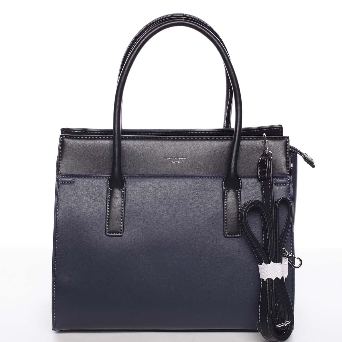 Dámská stylová a elegantní tmavě modrá kabelka - David Jones Gia modrá