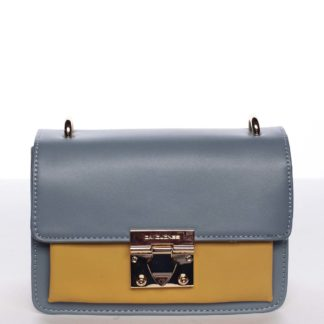 Extravagantní dámská modro žlutá crossbody kabelka - David Jones Magaly modrá