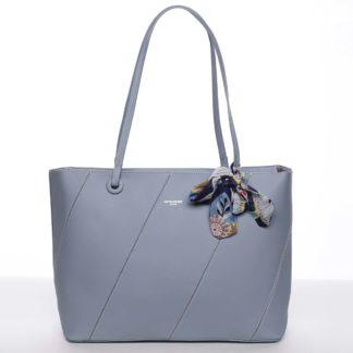 Velká elegantní a originální dámská světle modrá kabelka přes rameno - David Jones Keiko modrá