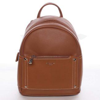 Dámský světle hnědý městský batoh s kapsičkou - David Jones Anthony hnědá