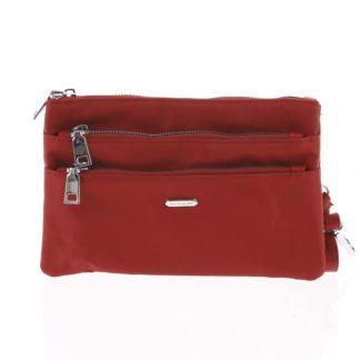 Stylová dámská listová crossbody kabelka tmavě červená - David Jones Daniella červená