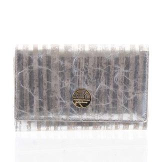 Dámská peněženka kožená stříbrná - Rovicky 76112 stříbrná