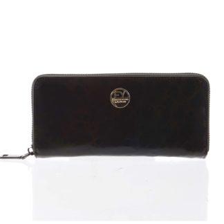 Luxusní dámská kožená peněženka pouzdro černé - Rovicky 77006 černá