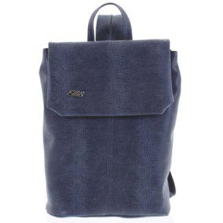 Větší měkký dámský moderní modrý batoh - Ellis Elizabeth  modrá