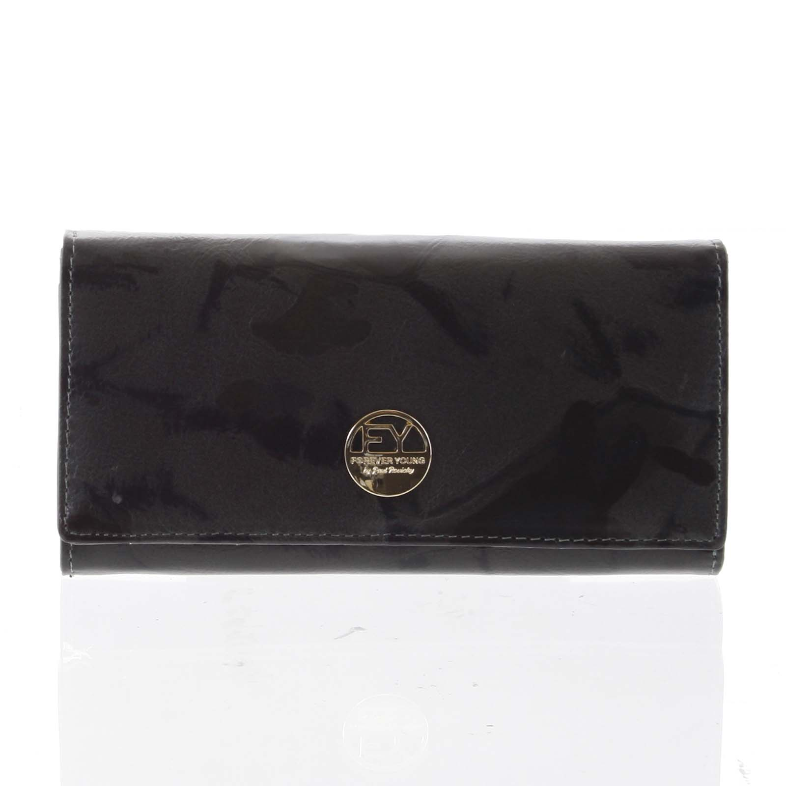 Elegantní dámská kožená peněženka olivová - Rovicky 64003 zelená