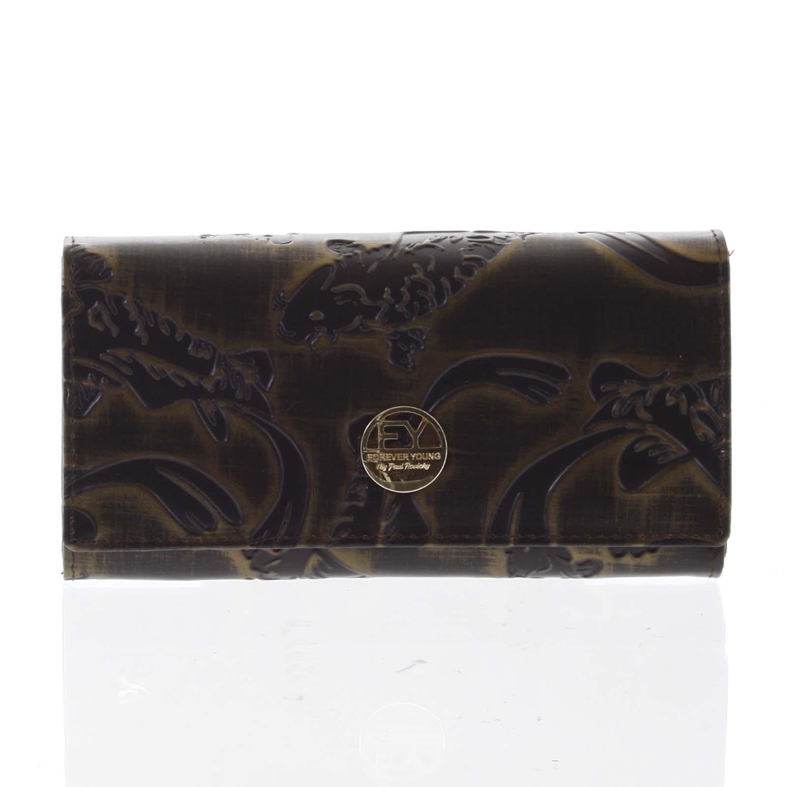 Elegantní dámská kožená peněženka měděná - Rovicky 64003 zelená