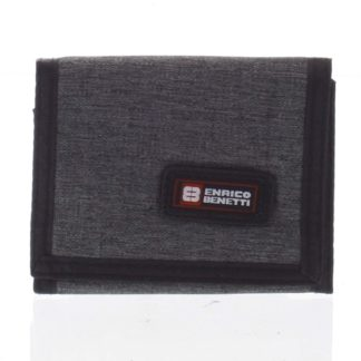 Peněženka látková tmavě šedá - Enrico Benetti 4600 šedá