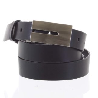 Exkluzivní pánský kožený opasek černý - Maxim Tape černá
