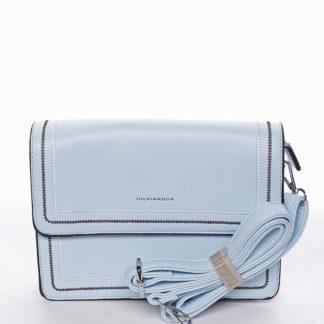 Originální elegantní crossbody kabelka nebesky modrá - Silvia Rosa Cielo  modrá