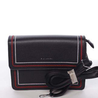 Originální elegantní crossbody kabelka černá - Silvia Rosa Cielo  černá