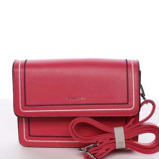 Originální elegantní crossbody kabelka fuchsiová - Silvia Rosa Cielo  růžová