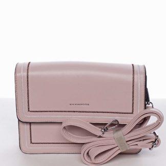 Originální elegantní crossbody kabelka světle růžová - Silvia Rosa Cielo  růžová