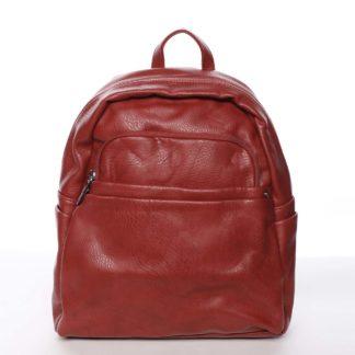 Střední městský dámský červený batoh - Silvia Rosa Jimm červená