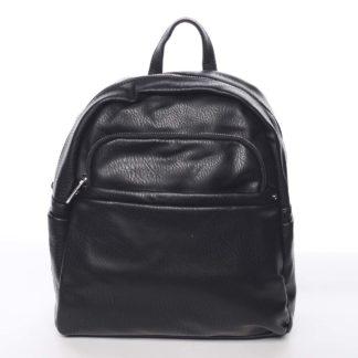 Střední městský dámský černý batoh - Silvia Rosa Jimm černá