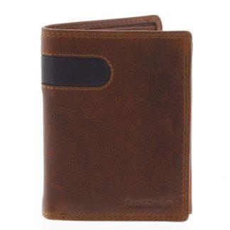 Pánská kožená peněženka hnědá - SendiDesign Parah hnědá