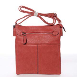 Dámská červená moderní a elegantní crossbody kabelka - Dudlin Ketty  červená