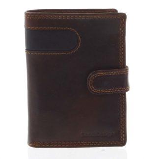 Pánská kožená peněženka hnědá - SendiDesign Elam hnědá