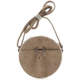 Kulatá moderní dámská crossbody kabelka taupe - Enrico Benetti Behesha Taupe