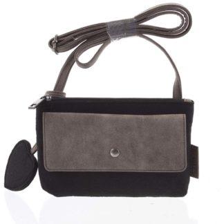 Filcová crossbody kabelka černá - Beagles Laser černá