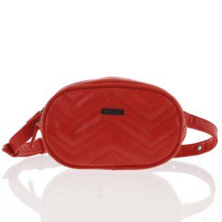Malá dámská crossbody kabelka/ledvinka červená - Beagles Tima červená