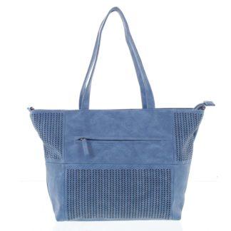 Elegantní perforovaná dámská kabelka přes rameno modrá - Beagles Lema  modrá