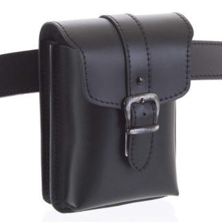 Pánská kožená kapsa na opasek černá - Kabea Hepp  černá