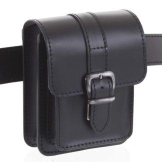 Pánská kožená kapsa na opasek černá - Kabea Kisi černá