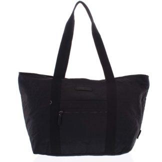 Velká dámská cestovní taška přes rameno černá - Enrico Benetti Mariam černá