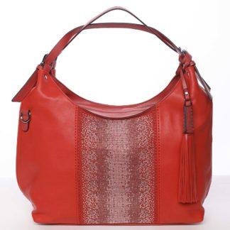 Luxusní červená dámská kabelka přes rameno - Maria C Parisa červená