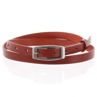 Dámský kožený opasek červený - PB Mery 95 červená