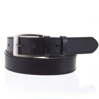 Pánský kožený opasek jeansový černý - PB Adami 115 černá