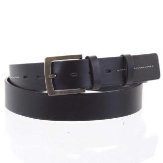 Pánský kožený opasek jeansový černý - PB Mael 115 černá