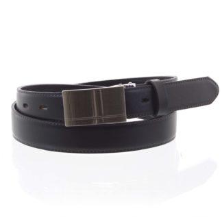 Pánský kožený opasek oblekový černý - PB Asher 95 černá
