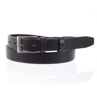 Pánský kožený opasek oblekový černý - PB Asiel 105 černá