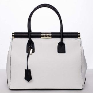 Módní originální dámská kožená kabelka do ruky bílá - ItalY Hila bílá