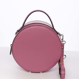 Malá fuchsiová elegantní dámská kožená kabelka - ItalY Husna růžová