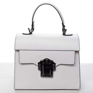 Exkluzivní módní dámská kožená kabelka bílá - ItalY Bianka bílá