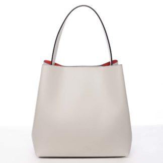 Dámská luxusní kožená kabelka béžová - ItalY Hania béžová